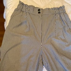 H&M wide leg pinstriped pants